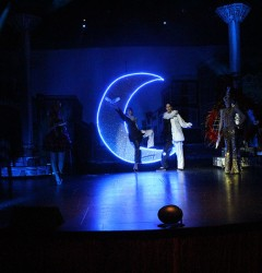 french cabaret with magicians